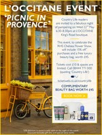 L&#039;OCCITANE Chelsea Flower Show offer