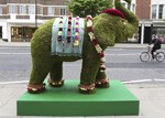 Sloane Street invaded by elephants